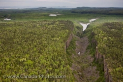 Aerial View Of Ouimet Canyon