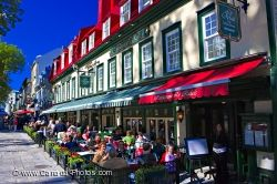 Outside Cafes Place D Armes Old Quebec