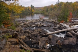 Oxtongue River Waterfall Ontario