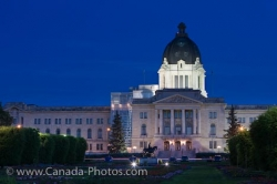 Parliament Building Dusk Illumination Regina City Saskatchewan