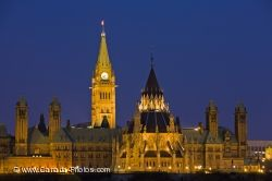Parliament Hill Night Lights Nepean Point Ottawa City