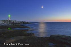Peggys Cove Lighthouse Blue Hour St Margarets Bay