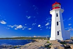 Peggys Cove Lighthouse Coastline Nova Scotia Canada