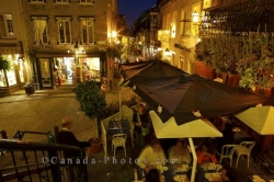Petit Champlain Restaurants Old Quebec Canada