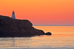 Pink Sunset Boars Head Lighthouse Long Island Nova Scotia
