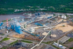 Pulp Mill Aerial Thunder Bay City Lake Superior Ontario