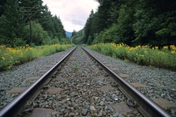 Railway Tracks Yale British Columbia