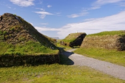 Reconstructed Sod Viking Huts L Anse Aux Meadows Newfoundland