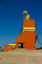 Red Grain Elevator Coronach Saskatchewan