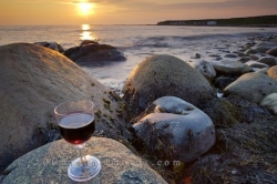 Red Wine Sunset Picture
