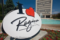 Regina City Sign Queen Elizabeth Court II Saskatchewan