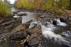 Restoule River Autumn Waterfall Restoule Ontario