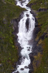 Rock Waterfall Mealy Mountains Labrador