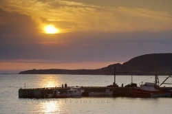 Rocky Harbour Marina Sunset Newfoundland