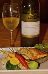 Food Salmon Entree White Wine Picture