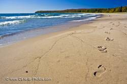 Sandy Beach Lake Footprints Pancake Bay Ontario
