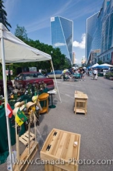 Saturday Markets Street Stalls Regina City Saskatchewan