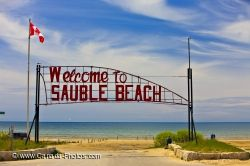 Sauble Beach Welcome Sign Lake Huron Ontario