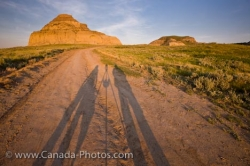 Shadows On Road To Castle Butte