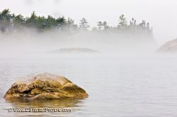 Fog Sinclair Cove Lake Superior