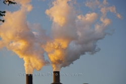 Smoke Stack Pollution Sault Ste Marie Ontario