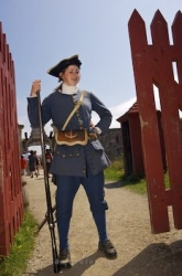 Soldier Fortress Of Louisbourg Nova Scotia