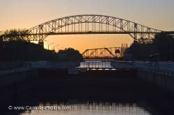 Soo Locks Sunset Sault Ste Marie Ontario