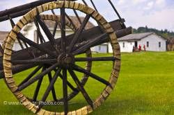 Spoke wheels Red River cart shaganappi tires Fort Walsh National