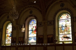 Chapel Stained Glass Windows Old Montreal