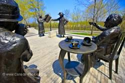 Statues of Famous Five entitled Women are Persons grounds of Parliament Hill City of Ottawa