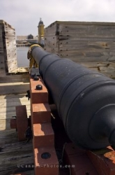 Stone Wall Cannon Gun Louisbourg Fortress Nova Scotia
