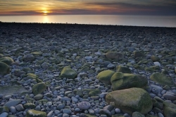 Sunset Delaps Cove Rocky Beach Bay Of Fundy Nova Scotia