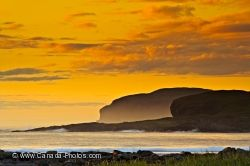Sunset Fog L Anse Aux Meadows