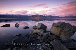 Sunset Kluane Lake Yukon