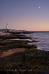 Sunset Peggys Cove Lighthouse Nova Scotia