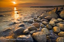 Sunset Rocky Beach Gros Morne National Park