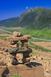 Tablelands Trail Inukshuk Gros Morne National Park Newfoundland