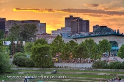 The Forks Market Sunset Winnipeg City Manitoba Canada
