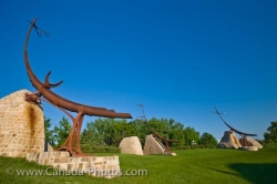 The Forks Sculptures Oodena Celebration Circle Winnipeg