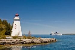 Tobermory Big Tub Lighthouse Lake Huron Ontario