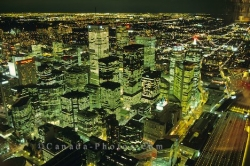 Cities Night Toronto Downtown