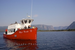Tour Boat Western Brook Pond Newfoundland