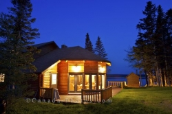 Tuckamore Lodge Night Lights Newfoundland Canada