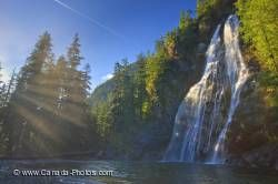 Virgin Falls Waterfall Vancouver Island BC