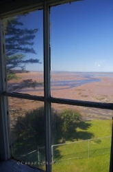 Walton Lighthouse Window Scenery Minas Basin Nova Scotia