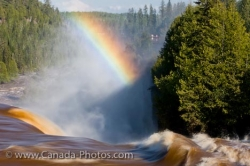 Waterfall Kakabeka Falls Rainbow