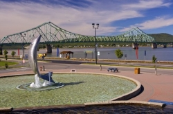 Waterfront Statue Restigouche River New Brunswick