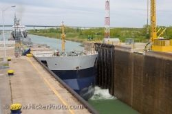 Large Bulk Carrier Ship Welland Canal