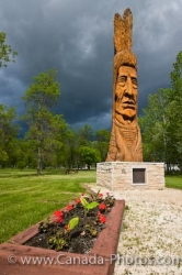Whispering Giant First Nations Carving Winnipeg Beach