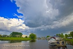 Winnipeg Beach Marina Storm Lake Winnipeg Manitoba